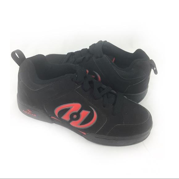 Heelys Other - HEELYS | black/ red wheeled shoes yth 6